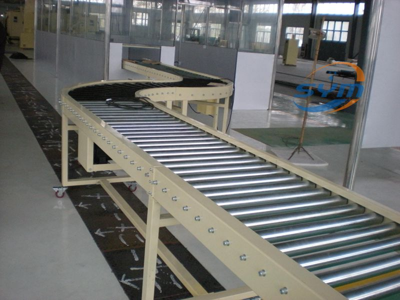 Curved Gravity Roller Conveyor