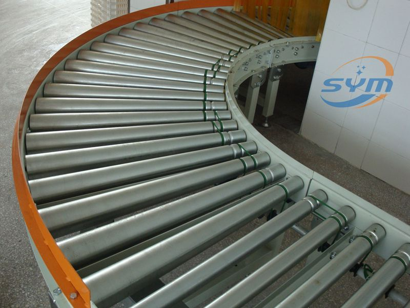 Curved Powered Roller Conveyor